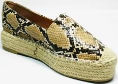 Обувь без каблука Lily shoes Q38snake.