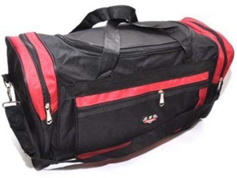 Сумка спортивная. Размер 46х28х24 см. Основной карман на молнии, дополнительный накладной карман сбоку, двумя торцевыми карманами, плечевой ремень. DY-615
