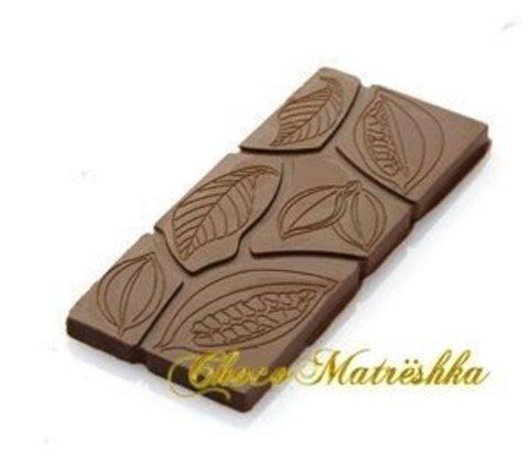 Форма для шоколада поликарбонатная (Италия) - Плитка Какао-дольки