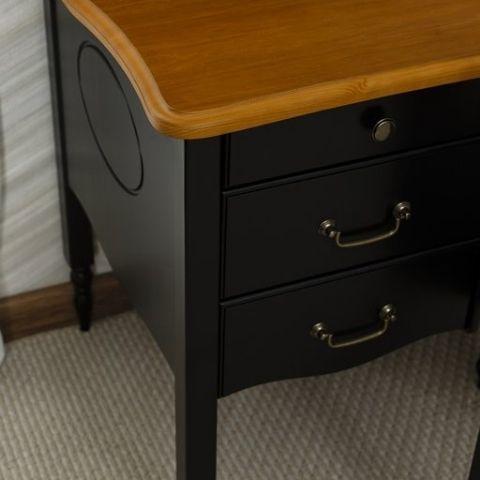Письменный стол Айно 2 (черный шер/скандик)