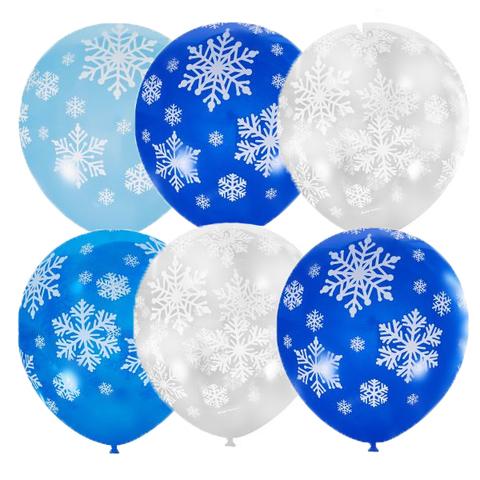 Воздушные шары снежинки