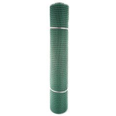 Сетка садовая пластиковая квадратная Зеленый луг БЮДЖЕТ 15x15мм, 1x10м, зеленая