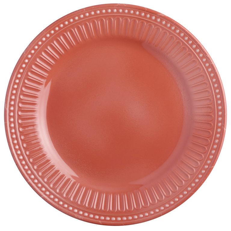 MELAMINE DESSERT PLATE,SERENITY – CORAL