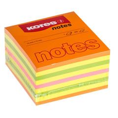 Стикеры Kores 75х75 мм неоновые 4 цвета (1 блок, 450 листов)