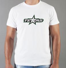 Футболка с принтом НХЛ Даллас Старз (NHL Dallas Stars) белая 009