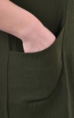 Венера. Женское платье большого размера. Олива.