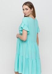 Платье для беременных и кормящих цвет аквамарин