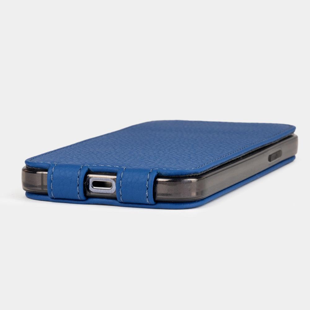 Чехол для iPhone 12/12Pro из натуральной кожи теленка, цвета синий королевский
