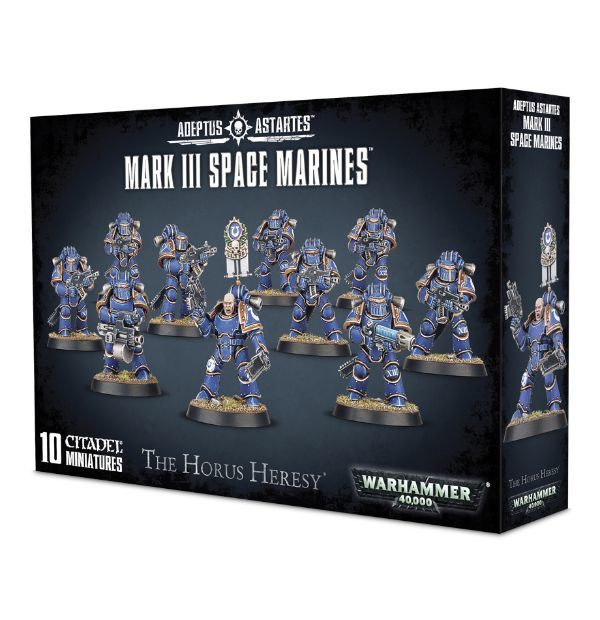 Mark III Space Marines. Коробка