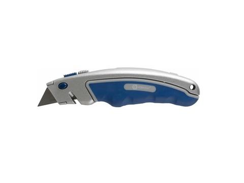Нож технический КОБАЛЬТ трапециевидные лезвия 19 мм (6 шт.) металлический корпус, быстрая  (242-076), шт