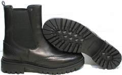 Женские ботинки без шнурков Jina 7113 Leather Black.