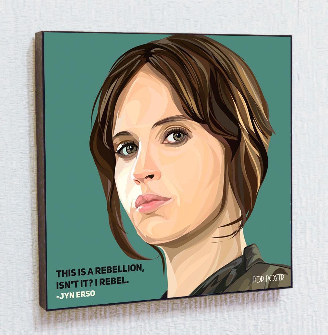 Купить картину постер ПОП-АРТ Джин Эрсо | STAR WARS | Звездные Войны