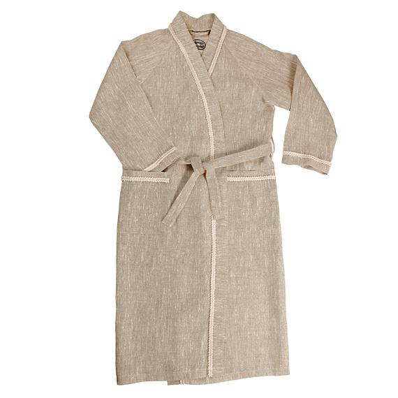 Халат для бани льняной ОННИ (размер 44-46)
