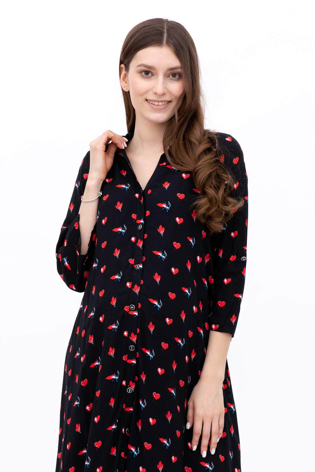 Платье для беременных 09592 черный