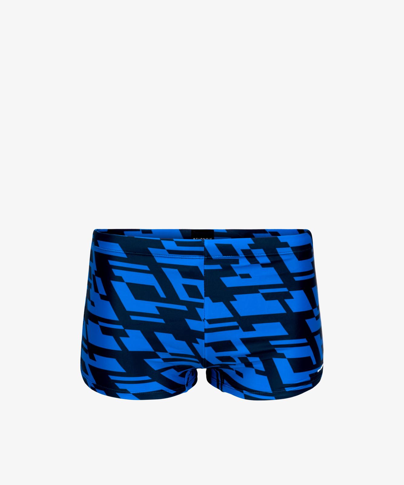 Купальные шорты мужские Atlantic, 1 шт. в уп., полиамид, голубые, KMS-311