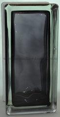 Стеклоблок половинка черный окрашенный изнутри Vitrablok 19х9х8см.