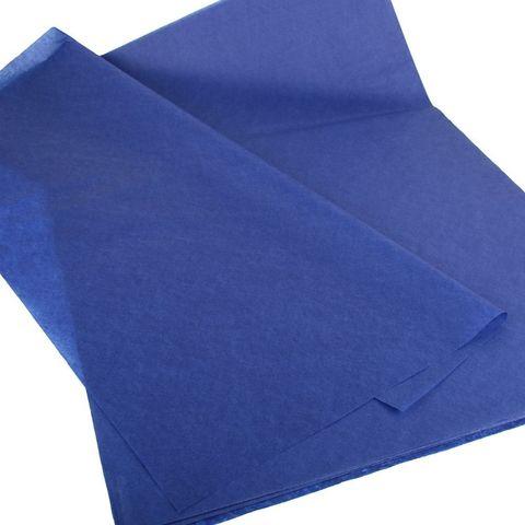 Бумага Тишью темно-синяя 50*65 см, 10 листов