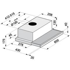 Вытяжка Korting KHP 6211 B  - схема