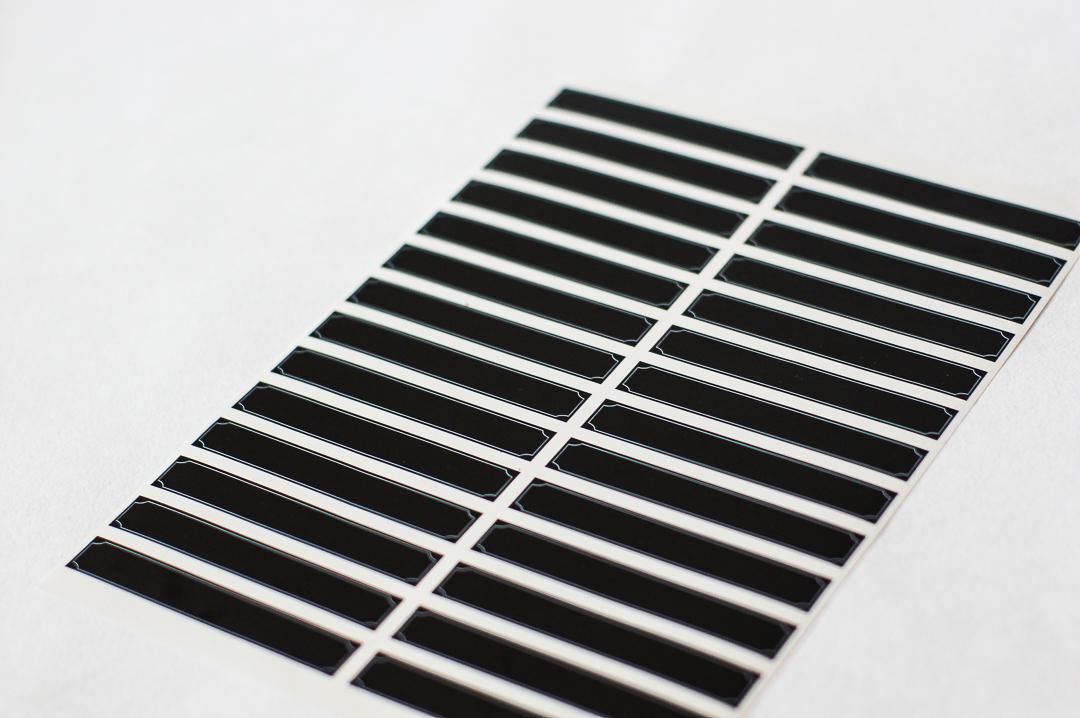 Набор наклеек 10х2 см, для полок, папок, книг, 2 листа, черный