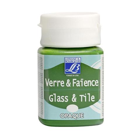 Краска по стеклу и керамике Lefranc&Bourgeois Glass&Tile 50 мл Непрозрачная 498, настоящий зеленый