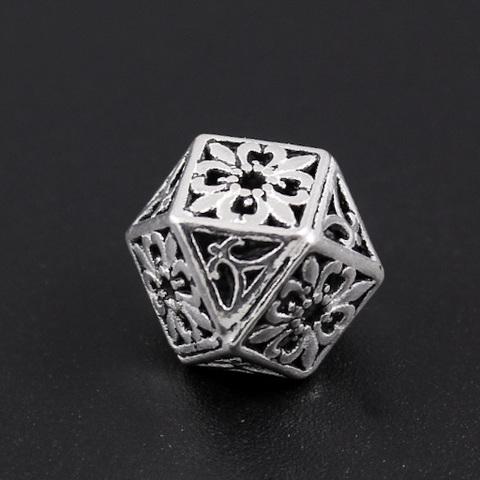 Бусина Лион 11х14,3 мм серебро 925