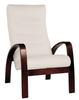 Кресло «Ладога-2», ткань миндаль, каркас венге структура, GREENTREE