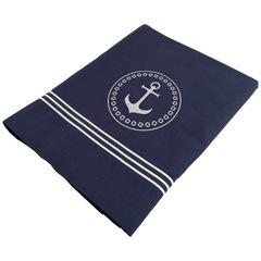 Santorini Savanna top sheet & pillowcase / single deep blue