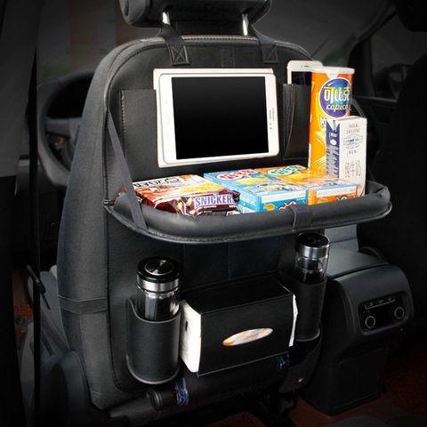 Автомобильный органайзер  Folding Dinner Posture Back Handing Bag для заднего сиденья, кожаный