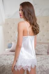 Сексуальная пижамка с ажуром Magdalena белая