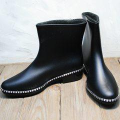 Резиновые сапоги женские черные низкие Hello Rain Story 1019 Black