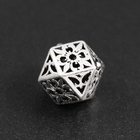 Бусина Лион 9,5х7,5 мм серебро 925
