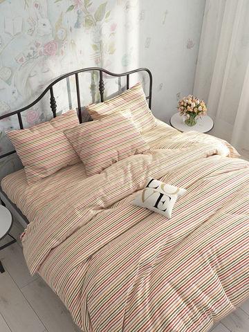 Пододеяльник  -Нежная полоска- 2-спальный на молнии 175х215 см