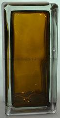 Стеклоблок половинка бронзовый окрашенный изнутри Vitrablok 19х9х8см.
