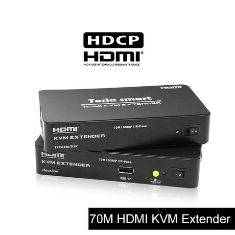 Удлинитель HDMI + USB по витой паре 70м KVM + ИК