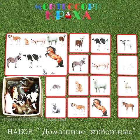 КАРТОЧКИ МОНТЕССОРИ НАБОР «Домашние животные»