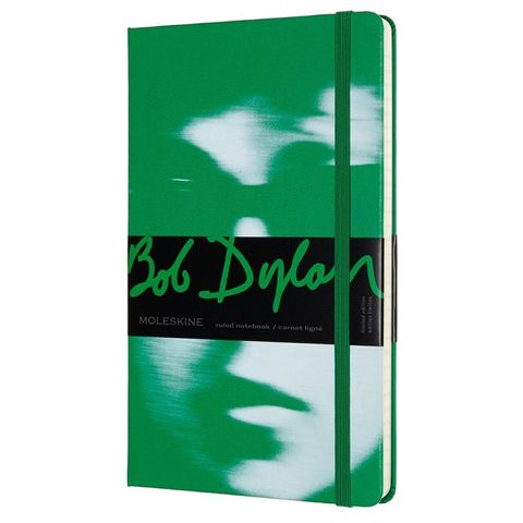 Блокнот Moleskine LIMITED EDITION BOB DYLON LEBDQP060A Large 130х210мм 240стр. линейка зеленый