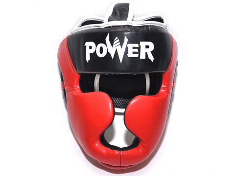 Шлем боксерский POWER, ПВХ, цвет красный, размер M :HT-P-M-K: