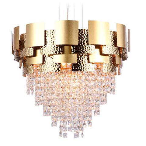 Подвесная хрустальная люстра TR5243/9 GD/CL золото/прозрачный E14/9 max 40W D600*840