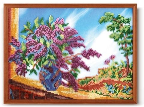 производитель РАДУГА БИСЕРА¶артикул В-235¶размер 20х27¶техника вышивание бисером¶тематика цветы¶канв