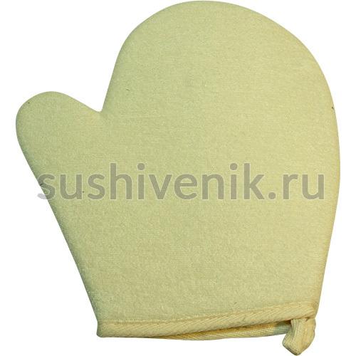 Мочалка для тела Рукавица массажная из сизаля и хлопка