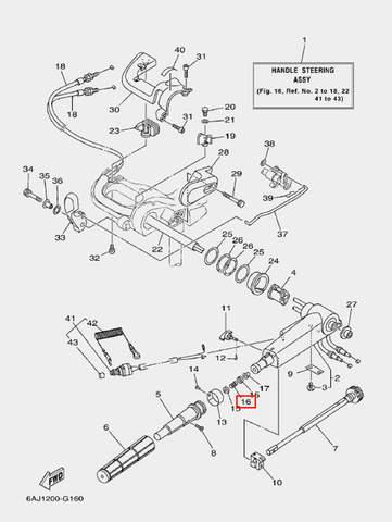 Пружина для лодочного мотора F20 Sea-PRO (16-16)