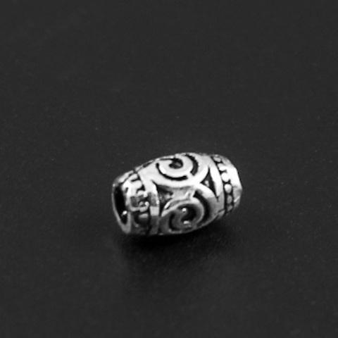 Бусина Лирика 8х5 мм серебро 925