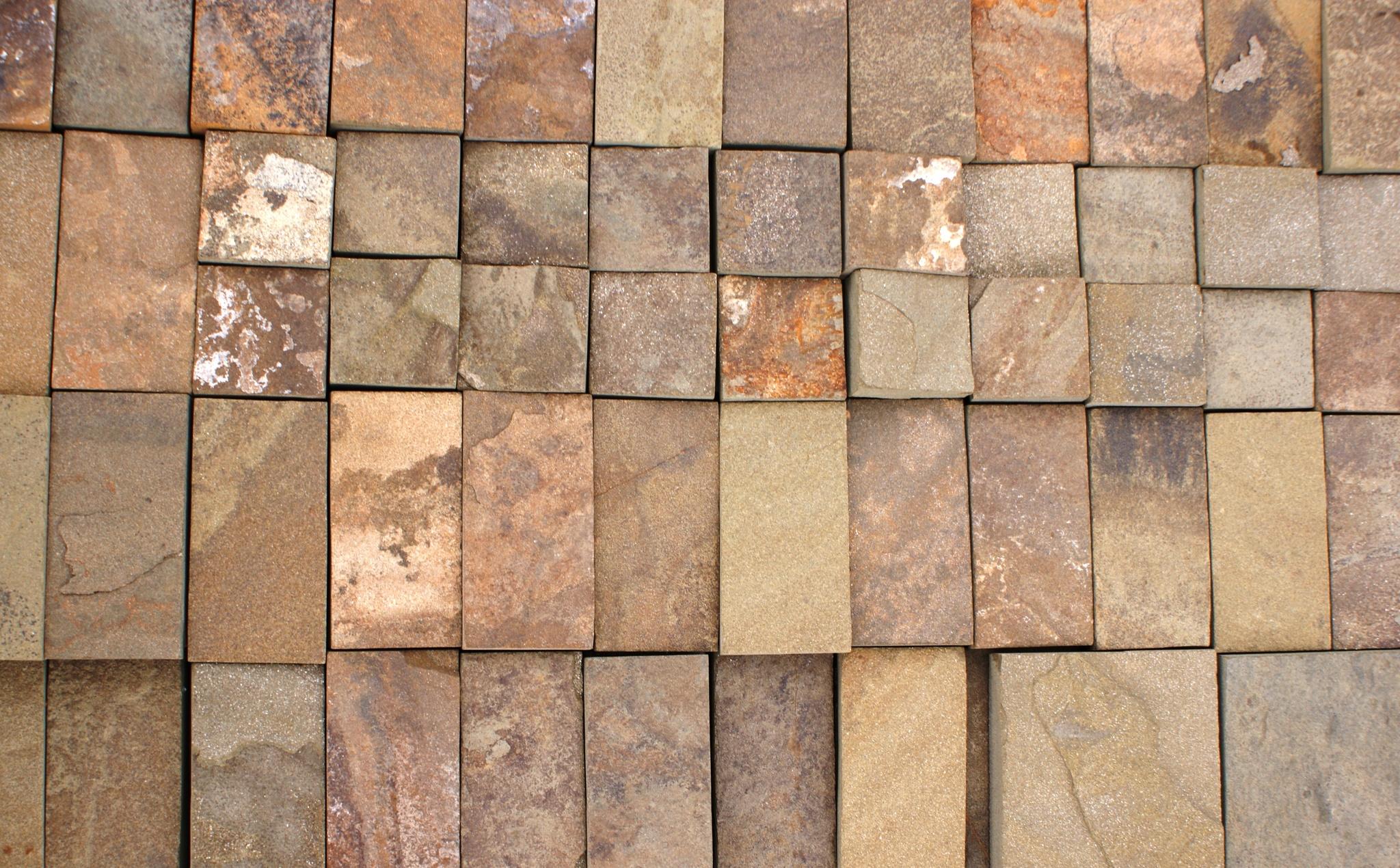Набор плитки песчаник пиленный Серый кратно 5 см, укладка на поддон