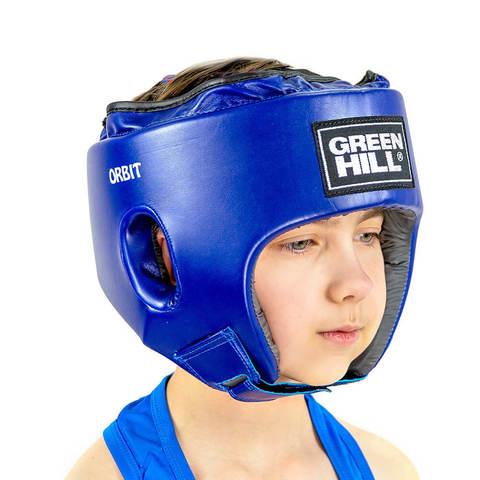 Шлем для боевого самбо ORBIT Green Hill синий