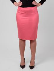 7702 юбка розовая