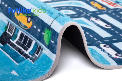 Плюшевый коврик 120х160 см Дороги