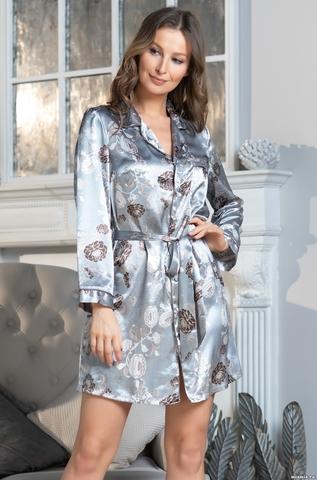 Рубашка  женская Mia-AMORE PARIS PIONS ПАРИЖ ПИОН серая 8997