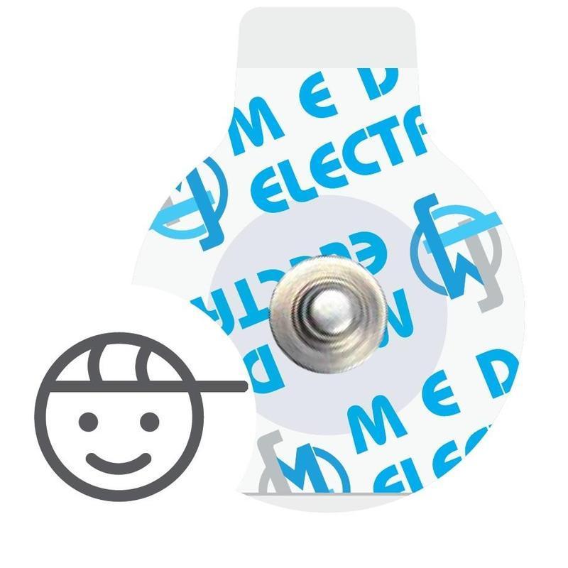 Электрод  ЭКГ 25х32 мм для детей, одноразовый, MSGST-27, Medico