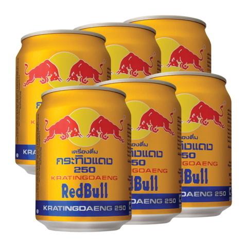 Энергетический напиток Red Bull Kratiengdaeng Таиланд, 250 мл*6 шт