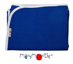 Плед детский ManyMonths, 75 x 75 см, Синий (шерсть мериноса 100%)